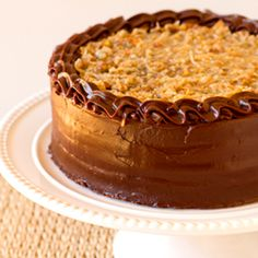 German Chocolate Cake – Four layers of chocolate cake with a toasted pecan & coconut filling and chocolate icing.