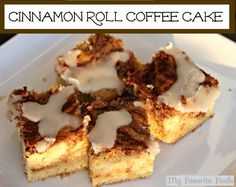Cinnamon Roll Coffee Cake #desserts