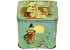 English Dutch Mabel Lucie Attwell Golly Black Boy Patria Biscuit Tin 1920s | eBay ♥♥
