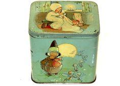 English Dutch Mabel Lucie Attwell Golly Black Boy Patria Biscuit Tin 1920s | eBay ♥♥