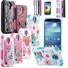 Samsung galaxy S3 i9500 case Cute Cartoon Cover ,Stand Shell .Dual layer .Wonderful!!