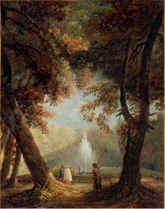 Hubert Robert. Le Grand jet d'eau de la Villa Conti à Frascati (v. 1761)