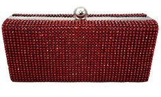 Dazzling Evening Bag Crystal Pave Hard Case Clutch Handbag with Detachable Chain, Red CB Accessories http://www.amazon.com/Dazzling-Evening-Crystal-Handbag-Detachable/dp/B00A9LSOVC/
