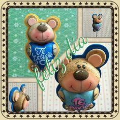 Making Out, Safari, Felt, Teddy Bear, Diy Crafts, Dolls, Handmade, Animals, Vintage
