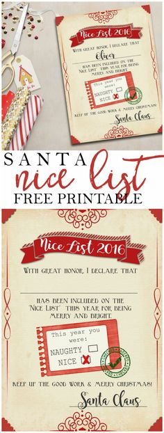 Free printable letter to santa template cute christmas wish list santa nice list free printable certificate yelopaper Image collections