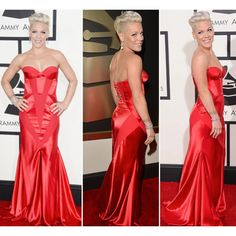 There were so many #amazing #looks at #TheGrammys last night, we had a #ball picking out our #favorites. But one that definitely caught our eye was the great #JohannaJohnson #reddress worn by #vocal #powerhouse #P!nk She filled out the dress in all the right ways and absolutely killed it. Can't wait to catch her #ontour soon!  #singer #Philly #Philadelphia #Pink #aleciamoore #redcarpetlooks #celebritystyles #grammyawards #hollywood #designerdress #boldcolor #bodycon