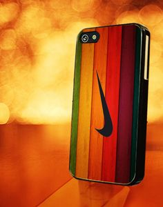 WOOD WITH NIKE COLORFUL - iPhone 4 Case,