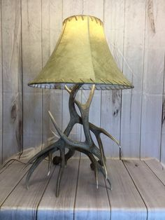 Deer Antler Lamp Made from Real Antlers Deer Antler Lamps, Shed Antlers, Bronze Finish, Furniture Ideas, Old Things, Table Lamp, Antiques, Etsy, Home Decor
