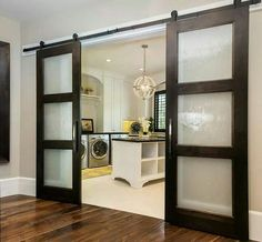 ideas for contemporary barn door in the house Doors Interior, Glass Barn Doors, Wood Doors Interior, House, Sliding Barn Door Hardware, Door Design, Home, Bedroom Doors, Remodel Bedroom
