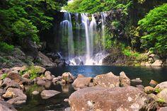 Cheonjiyeon Waterfall in Jeju by Carvy64