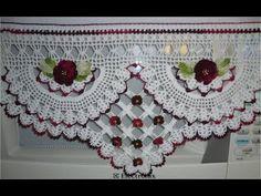 Pano de prato com barrado de crochê trançado (1 parte) # Elisa Crochê - YouTube