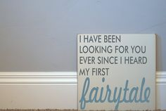 Fairytale Wood Sign  Typography Word Art   Your by vinylcrafts, $55.00
