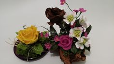 clay flowers decorations