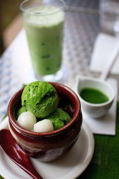 Nakamura Tokichi green tea producer's cafe, Kyoto, Japan