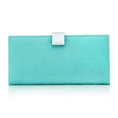 Continental wallet in Tiffany Blue® textured leather. More colors available.