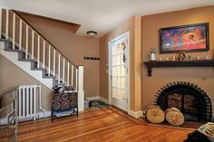 Interior - #entry #fireplace