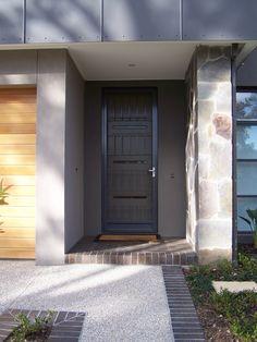 Custom Security Door Design - Designed to best suit this homeowners front door.