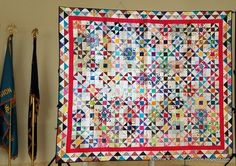 This is Bonnie's finished Box Kite quilt.
