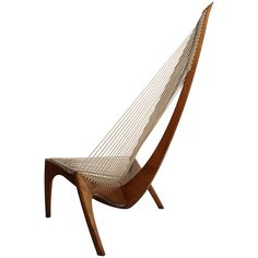 Harp Chair by Jorgen Hovelskov for Christensen & Larsen Denmark | From a unique collection of antique and modern lounge chairs at http://www.1stdibs.com/furniture/seating/lounge-chairs/