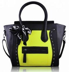 black & yellow skull tote bag