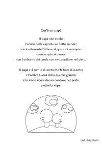 Poesia - Cos'è un papà