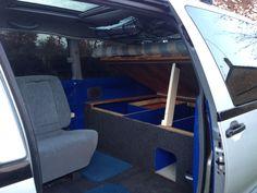 DIY Toyota Previa Camper under bed storage