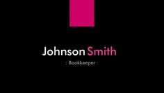 Modern Deep Pink Block Logo on Simple Black Bookkeeper Business Cards https://www.zazzle.com/bookkeeper_modern_rose_pink_business_card-240021386175122870?rf=238835258815790439&tc=GBCAccounting1Pin