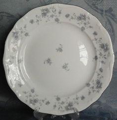 "Haviland Bavaria Blue Garland 10"" Dinner Plates, White Porcelain, Germany #JohannHaviland"