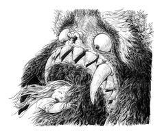 "Laurent Gapaillard illustration for ""Le Yark"". Human Tree, John Kenn, Arte Horror, Ink Pen Drawings, Weird Art, Mermaid Art, Illustrations And Posters, Children's Book Illustration, Concept Art"
