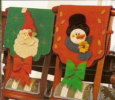 Forros de sillas navideños