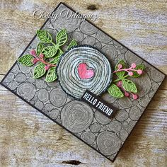 """Gefällt 22 Mal, 2 Kommentare - Christy Velasquez (@thestampcycle) auf Instagram: """"The new @stampinup Tree Rings background stamp goes perfectly with the Always & Forever stamp set…"""""""
