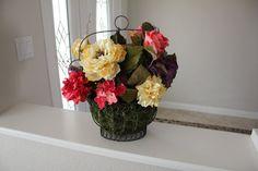 Floral Arrangement home decor Table Flower by tinasboutiquehome