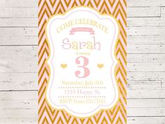 A personal favorite from my Etsy shop https://www.etsy.com/listing/506498368/cute-pink-and-gold-little-girls-birthday