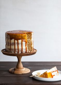 Cinnamon Caramel Apple Cake with Goat Cheese Frosting