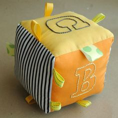 DIY embroidered baby block via Compulsive Craftiness   # Pinterest++ for iPad #