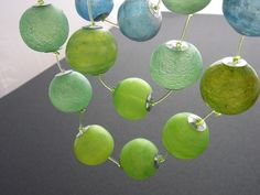 Translucent hollow beads by  Kathrin Neumaier