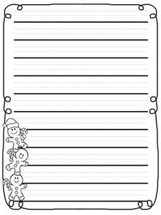 Christmas Primary Lined Writing Paper 1 50 Sparkle Box Holiday