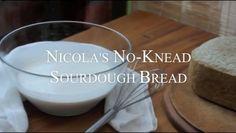 Nicola's No-Knead Sourdough Bread {including gluten-free option}