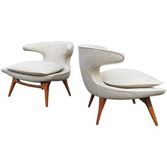 Pair of Karpen Horn Chairs | See more antique and modern Armchairs at http://www.1stdibs.com/furniture/seating/armchairs