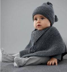 Passeando pelas sugestões do PINTEREST encontrei a foto deste poncho e gorro para bebê.     https://www.pinterest.com/pin/574912708656655619...
