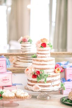 Naked Cake Inspiration  | Grand Budapest Hotel Inspired Bridal Shower by Margo and Me's Jenny Bernheim