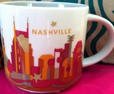 #Nashville Starbucks City Mug  #Starbucks #CityMug