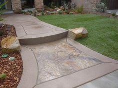 Flagstone walkway idea