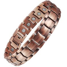VITEROU Mens Magnetic Pure Copper Bracelet with Magnets for Arthritis Pain Relief,3500 Gauss,9.8 Inches