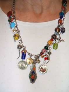 Chunky Statement Dangle Multicolor Upcycled by UniqueDesignsbyCK, $19.95