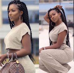 25 Ideas for braids cornrows protective styles beauty Twist Braid Hairstyles, My Hairstyle, Twist Braids, Easy Hairstyles, Big Box Braids Hairstyles, Braids Cornrows, Hairstyles Pictures, Wedding Hairstyles, Black Girl Braids