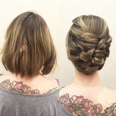 """88 curtidas, 13 comentários - KellGrace (@kellgrace) no Instagram: """"Short hair CAN go up! Here is a more sleek #updo using only loops and #neuma incontrol medium…"""""""