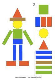 Wycinanki Do Drukowania - Układanki Z Fi - Education Creative Curriculum Preschool, Preschool Worksheets, Preschool Learning, Kindergarten Math, Teaching Art, Learning Activities, Preschool Activities, 4 Year Old Activities, Math For Kids