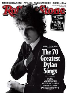bob dylan on the cover of The Rolling Stone.