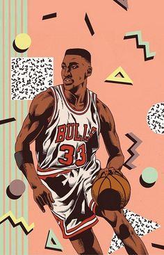 Basketball Art, Basketball Players, Scottie Pippen, Sport Inspiration, Design Inspiration, Nba Wallpapers, Hip Hop Art, Sports Pictures, Nba Players